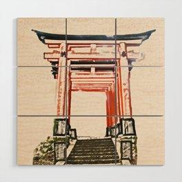 ArtWork Fushimi Inari Art Painting Kyoto Japan Wood Wall Art