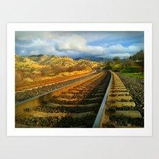 Tehachapi Loop, Tehachapi, CA Art Print