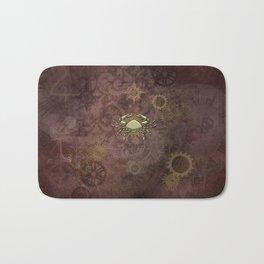 Steampunk Zodiac Cancer Bath Mat