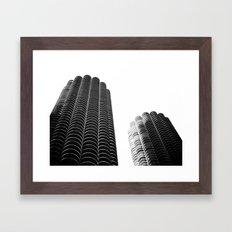 WHITEOUT: i miss you chicago Framed Art Print