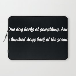 Chinese Proverb Laptop Sleeve
