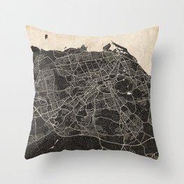 edinburgh map ink lines 2 Throw Pillow