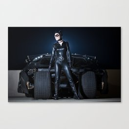 Catwoman and the Batmobile Tumbler Canvas Print