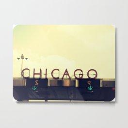 Chicago Skyway ~ Vintage Mid-Century Tollbridge Sign Metal Print