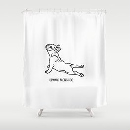 Yoga Dog - Frenchie Shower Curtain