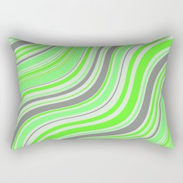 green curves Rectangular Pillow