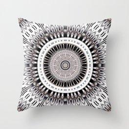 Hypnotic mandala flower Throw Pillow