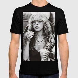 Stevie Nicks Young Black and white Retro Silk Poster Frameless T-shirt