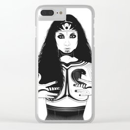 Her Body Snaked Down Clear iPhone Case