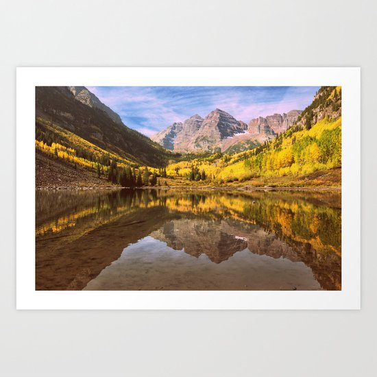 mountains. Mirror Lake Art Print