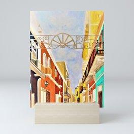 Impressionist Old San Juan  Painting in Cinnabar Tones Mini Art Print