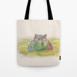 Ink Animals of Africa - Harriet Hippo Tote Bag