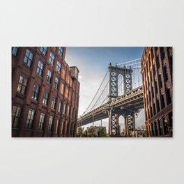 Historic Manhattan Bridge Urban New York City United States America Ultra HD Canvas Print