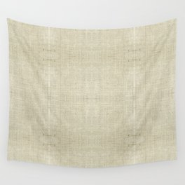 """""""Nude Burlap Texture"""" Wall Tapestry"""
