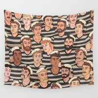 boys Wall Tapestries featuring Boys, Ahoy! by Rory Midhani