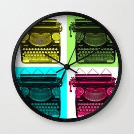 Typewriter Grid Wall Clock