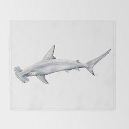 Hammerhead shark for shark lovers, divers and fishermen Throw Blanket