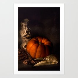 Halloween Still Life Art Print