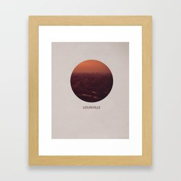 LOUISVILLE Framed Art Print
