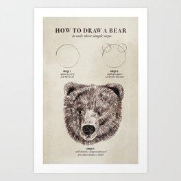 circle, circle, bear Art Print