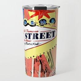 Beale Street Sign in Memphis Painted Photo Pop Art Travel Mug