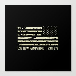 USS New Hampshire Canvas Print