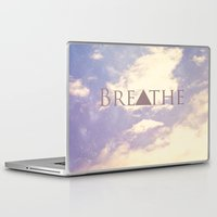 breathe Laptop & iPad Skins featuring Breathe by Rachel Burbee