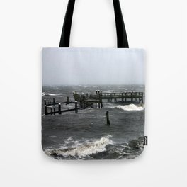 Rocky Point Pier Tote Bag