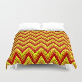 red yellow zigzag Duvet Cover