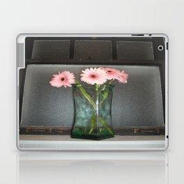 pink daisies ~ flowers on vintage sill Laptop & iPad Skin