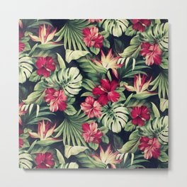 Night tropical garden Metal Print