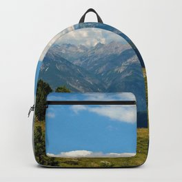 panorama cloudy alps serfaus fiss ladis tyrol austria europe Backpack