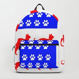Cat and Paw Flag Backpack