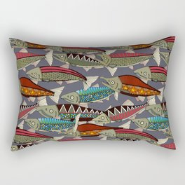 Alaskan salmon dusk Rectangular Pillow