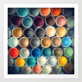 Honeycomb Palette 1x1 Art Print