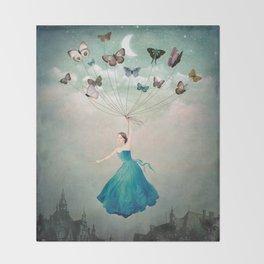 Leaving Wonderland Throw Blanket