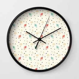 Space Doodle Wall Clock