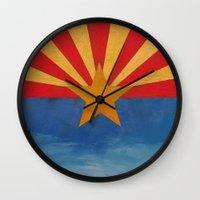 arizona Wall Clocks featuring Arizona by Michael Creese