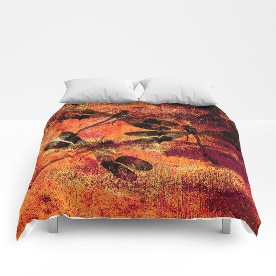 Black Dragonflies Comforters