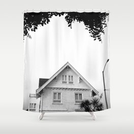 Whit House White Sky Shower Curtain