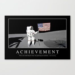 Achievement: Inspirational Quote and Motivational Poster Canvas Print