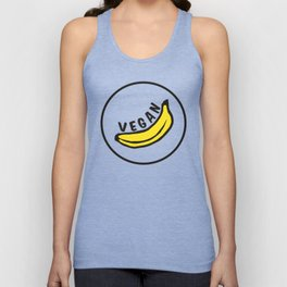 Vegan Badge of Honour - Banana ! Unisex Tank Top