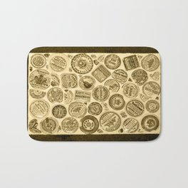Sepia pot lids Bath Mat