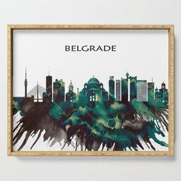 Belgrade Skyline Serving Tray