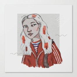 The Dig Dug Girl Canvas Print