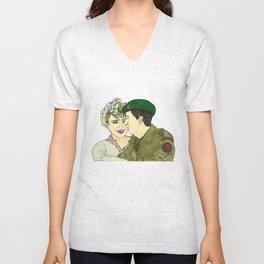 Wartime Lovers  Unisex V-Neck