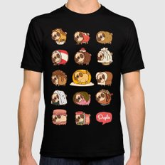 Puglie Food Collection 2 X-LARGE Mens Fitted Tee Black
