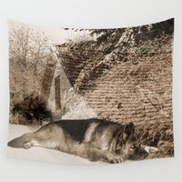 german Wall Tapestries featuring German Shepherd by Erika Kaisersot