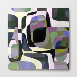 Mid Century Abstract 2 Metal Print