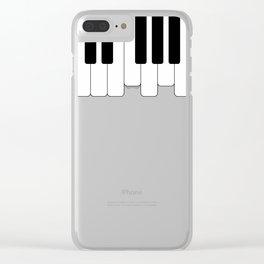 Piano keys. Playing Piano #society6 #decor #buyart #artprint Clear iPhone Case